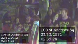 CCTV images of the couple