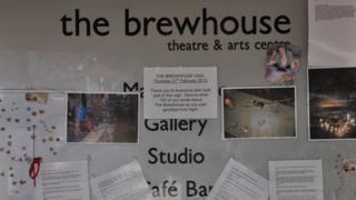 Brewhouse Theatre noticeboard