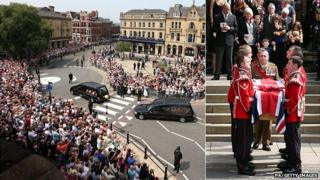 Crowds at the funeral of Fusilier Lee Rigby