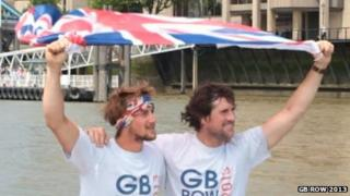 Josh Tarr and Jason McKinlay. Pic: GB Row Challenge 2013