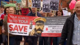 Protests in March 2012 regarding the plans