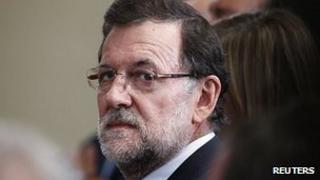 Mariano Rajoy at the Moncloa Palace, Madrid 11 July 2013