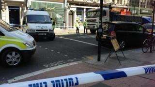 Scene of the crash in Holborn