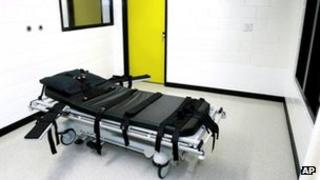 Death chamber at a US state prison file photo