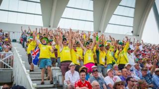 Australian crowds at Trent Bridge