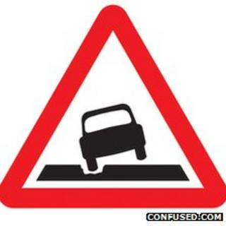 Pothole sign designed by confused.com
