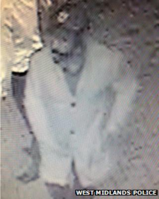 CCTV image of a police suspect
