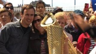 Olympic torch in Jersey