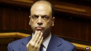 Italian Interior Minister Angelino Alfano, 19 Jul 13