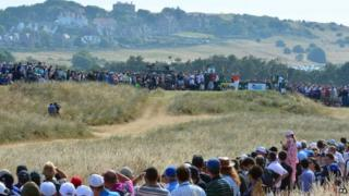 "England""s Lee Westwood tees off the 4th during day three of the 2013 Open Championship at Muirfield Golf Club, East Lothian"