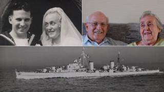 Ken and Betty Jennings and HMS Kenya
