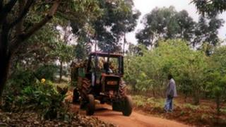 tractor on farm in Tanzania