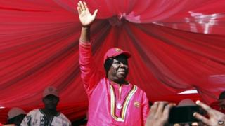 Morgan Tsvangirai at a rally in July 2013