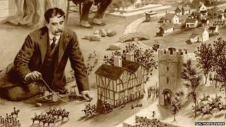 HG Wells war gaming, from the Illustrated London News