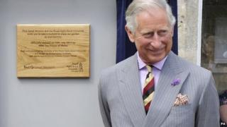 Prince Charles officially opened the garden at Kemble Railway Station