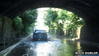Parts of Northern Ireland have already experienced heavy rain, including here on the Ballysallagh Road, Newtownards.