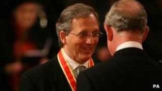 Sir Jon Cunliffe being knighted