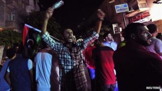 Protest at killing of Abdelsalam al-Mismari in Benghazi. 27 July 2013