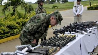 21 July 13, Farc weapons seized by the army