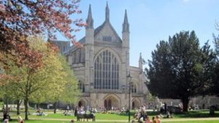 Winchester cathedral Hampshire