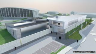 An artists' impression of the new custody suite in Quedgeley, Gloucester