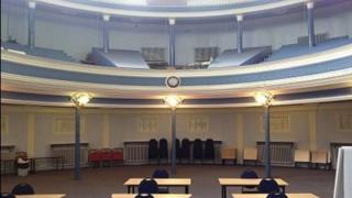 Hansom Hall interior
