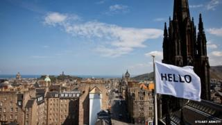 Peter Liversidge: Flags for Edinburgh