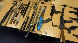 Weapons found during raids in Bolton