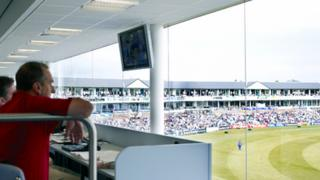 View from new press box at Riverside cricket ground, Chester-le-Street