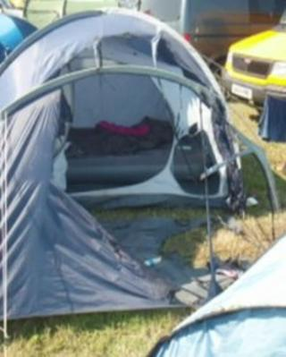 Camp Bestival tent