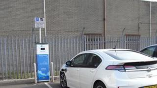 e-car charging point
