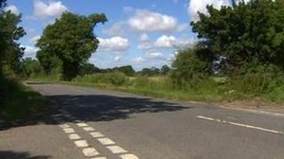 B1119 near Cransford, Suffolk
