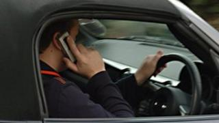 Driver on mobile phone (generic)