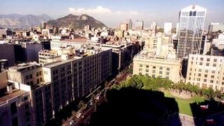 Skyline of Santiago, Chile (file image)