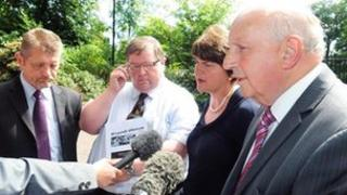 Arlene Foster accompanied the Castlederg victims to meet with the Secretary of State