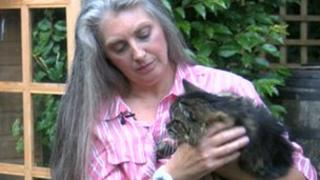 Tommi Townsend and a rescue cat