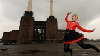 Helen Skelton at Battersea power station