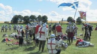 re-enactment of the defeat of Javes IV at Flodden