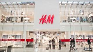 H&M shopfront