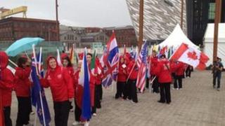The closing ceremony has been taking place in Belfast