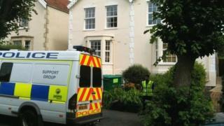Police van in Egerton Road