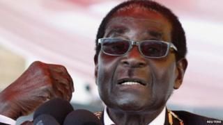 Robert Mugabe at the Commemoration of Heroes day in Harare