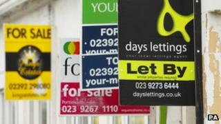 Estate agent signs