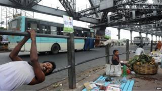 Calcutta's Howrah Bridge