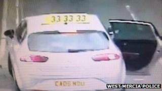 Getaway car used in Shifnal security van hold up