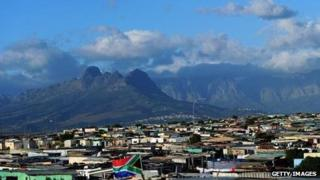 A general view of The Khayelitsha Township on 9 June, 2010 in Cape Town, South Africa.