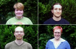 From top left, clockwise: Sarah, Chris, Charlie and Tom
