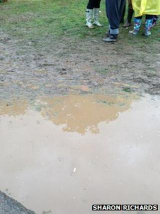 Flooding at the V Festival site