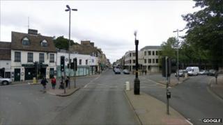 Catholic church junction, Cambridge