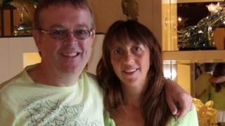 Nikki Bate with husband